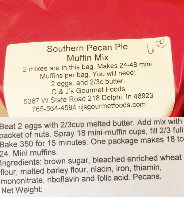 SOUTHERN PECAN PIE MUFFIN MIX